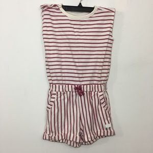7 for all mankind girls striped shorts romper Sz S